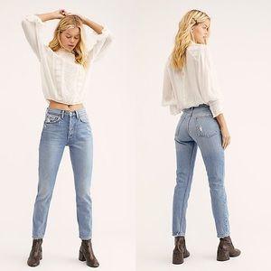 Boyish Free People The Billy Straight Leg Jeans 27